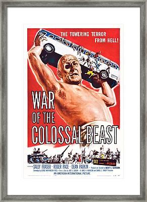 War Of The Colossal Beast, Dean Parkin Framed Print by Everett