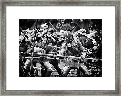 War Of The Roses Medieval Knights  Framed Print