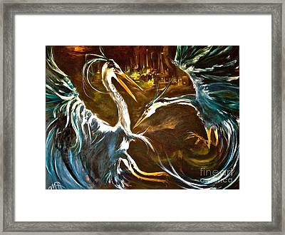 War Of The Worlds Framed Print by Michelle Dommer