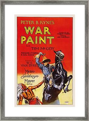 War Paint, Us Poster, Tim Mccoy Right Framed Print