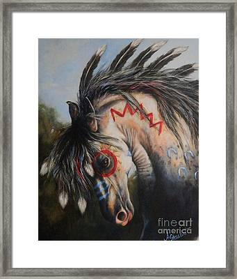 War Pony #3 Chieftan Framed Print by Amanda Hukill