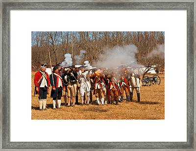 War - Revolutionary War - The Musket Drill Framed Print by Mike Savad