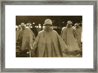 War Soldiers On Patrol Framed Print by Nicola Nobile