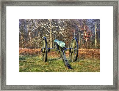 War Thunder - 1st New York Light Artillery-a1 Battery D The Wheatfield Gettysburg Framed Print by Michael Mazaika