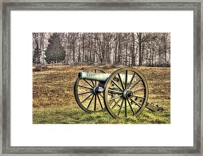 War Thunder - 1st New York Light Artillery-b1 Battery D The Wheatfield Late Winter Gettysburg Framed Print by Michael Mazaika