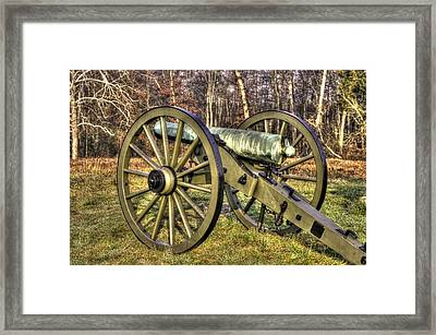 War Thunder - 1st New York Light Artillery-c2 Battery D The Wheatfield Late Winter Gettysburg Framed Print