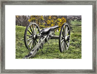 War Thunder - 1st Pa Light Artillery Ricketts Batteries F And G East Cemetery Hill Gettysburg Framed Print