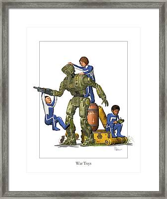 War Toys Framed Print