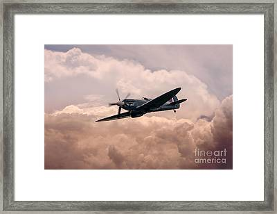 Warbirds - Spitfire  Framed Print by J Biggadike