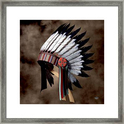 Warbonnet Framed Print by Daniel Eskridge