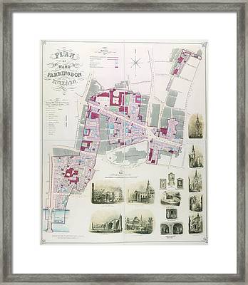 Ward Of Farringdon Framed Print by British Library