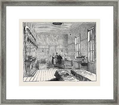 Ward Of The Receiving House Of The Royal Humane Society Framed Print