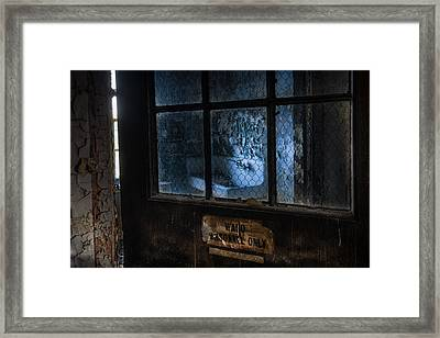 Framed Print featuring the photograph Ward Personnel Only by Gary Heller