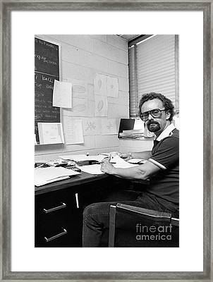 Ward Plummer, Us Physicist Framed Print by Emilio Segre Visual Archives/american Institute Of Physics