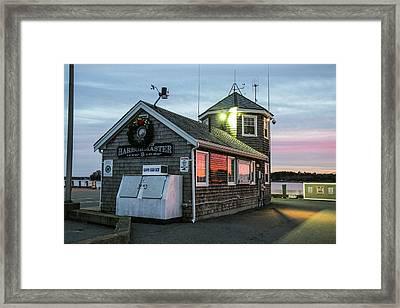 Wareham Harbormaster Building, Onset Framed Print by Susan Pease