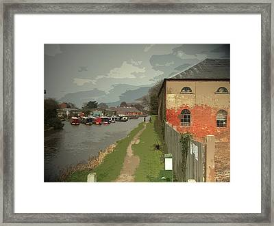 Warehouse And Barges On The Trent And, The Derwent Valley Framed Print by Litz Collection