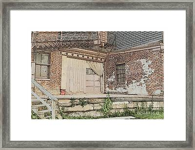 Warehouse Dock Framed Print