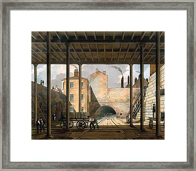 Warehouses Etc At The End Of The Tunnel Framed Print by Thomas Talbot Bury