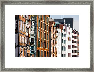 Warehouses In A Row, Nicolai Fleet Framed Print by Panoramic Images