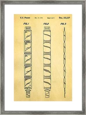 Warhol Five Face Watch Patent Art 1991 Framed Print
