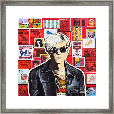 Framed Print featuring the mixed media Warhol by Joseph Sonday