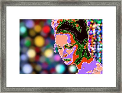 Framed Print featuring the photograph Warhol Style Portrait by Ze  Di
