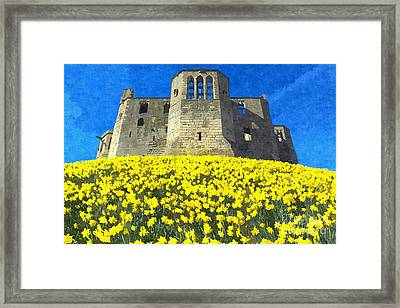 Warkworth Castle Daffodils Photo Art Framed Print