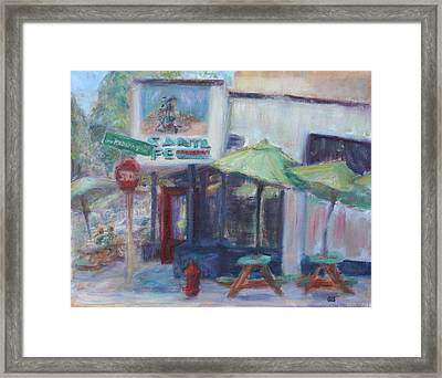 Warm Afternoon In The City  Framed Print