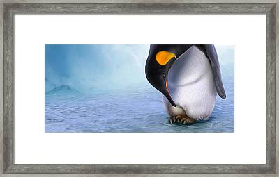 Warm And Protected Framed Print