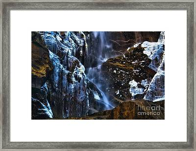 Warm Cold Water And Ice Framed Print