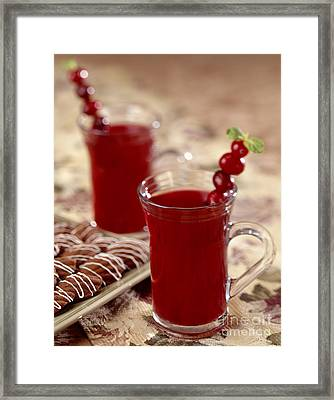 Warm Cranberry Holiday Cocktail Framed Print