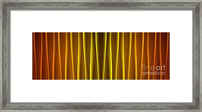 Warm Curtain Framed Print