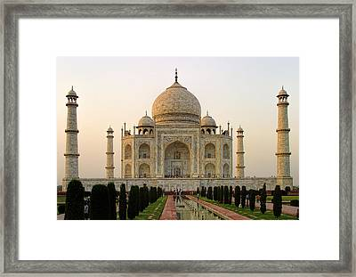 Warm Evening View Taj Mahal Framed Print