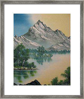 Framed Print featuring the painting Warm Feelings by Brian Johnson