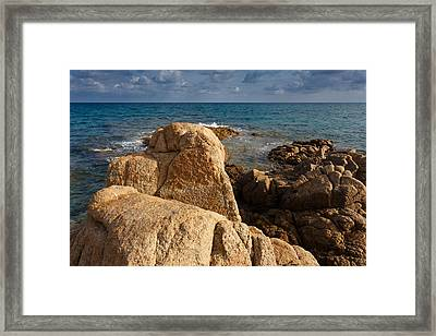 Framed Print featuring the photograph Warm Granite by Paul Indigo