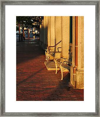 Framed Print featuring the photograph Warm Granite by Paul Noble
