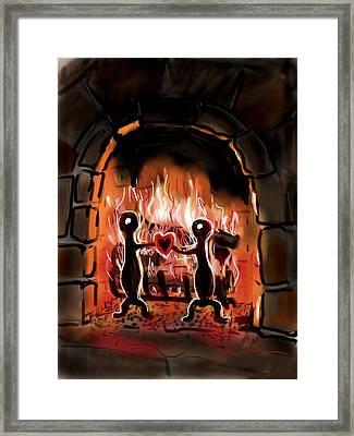 Warm Hearted Framed Print