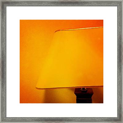 Warm Inside - Lamp With Warm Orange Light Framed Print