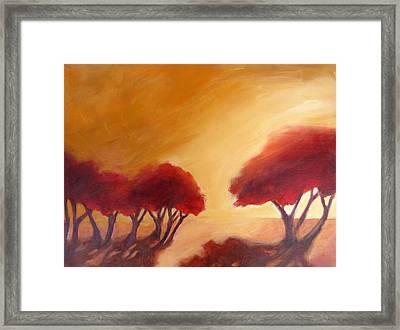 Warm Light Framed Print by Beverly Shaw-starkovich