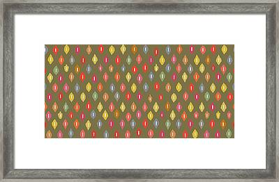 Warm Little Ikat Diamonds Framed Print by Sharon Turner
