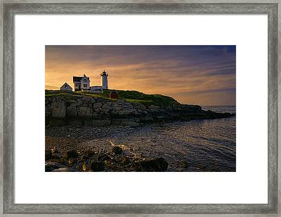 Warm Nubble Dawn Framed Print