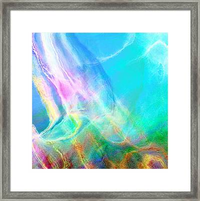 Framed Print featuring the mixed media Warm Seas- Abstract Art by Jaison Cianelli