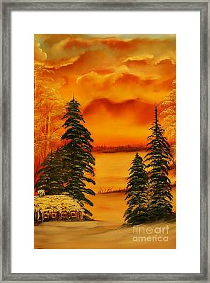 Warm Snow-original Sold- Buy Giclee Print Nr 34 Of Limited Edition Of 40 Prints  Framed Print