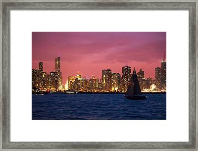 Warm Summer Night Chicago Style Framed Print