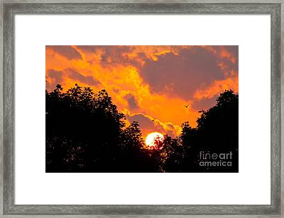 Framed Print featuring the photograph Warm Summer Sunset by Jay Nodianos