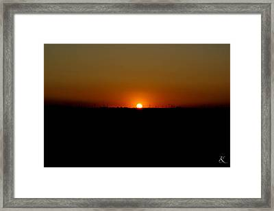 Warm Sunset Framed Print