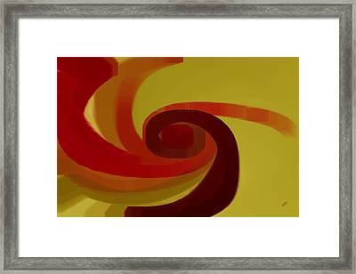 Warm Swirl Framed Print by Ben and Raisa Gertsberg