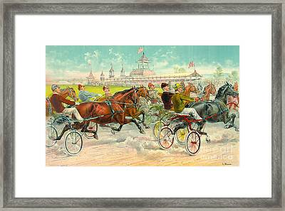 Warm-up Lap 1893 Framed Print by Padre Art