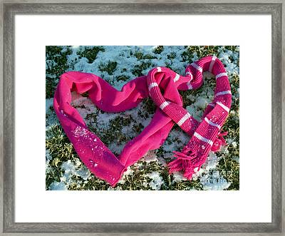 Warm Valentine Scarves Framed Print by Anna Lisa Yoder