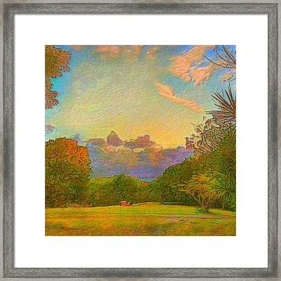 Warm View Of South Shore  - Square Framed Print